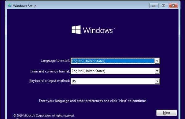 تنظیمات زبان در نصب ویندوز