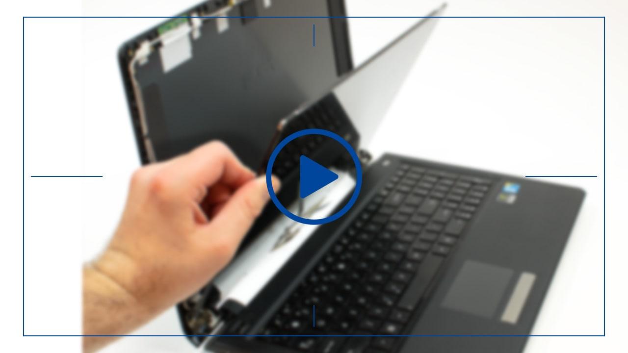 فیلم آموزش تعویض ال سی دی لپ تاپ لنوو